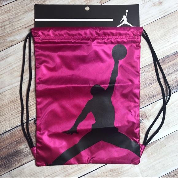 Nike Drawstring Backpack Gear Bag Hot Pink 3e105e38e491f